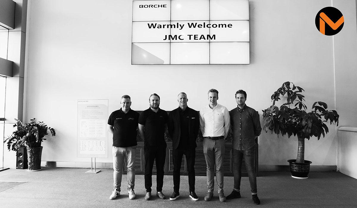 JMC i Kina på Borches huvudkontor